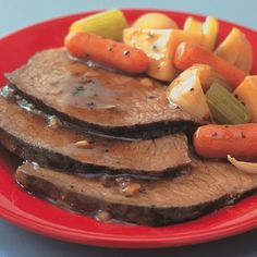Slow cooker pot roast with gravy and vegetables is great for weeknight meals. If you prep the night before, cover the cut potatoes with water, then...
