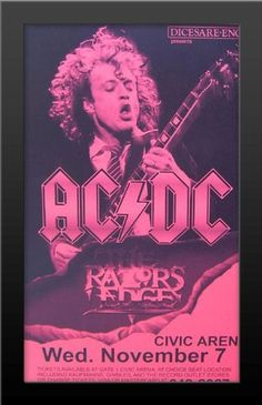 Ac Dc, Tour Posters, Band Posters, Movie Posters, Rock Concert, Music Is Life, Hard Rock, Album Covers, Illustrations Posters