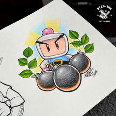 Bomberman fanart tattoo Churus Savioli Tatuagem Osasco