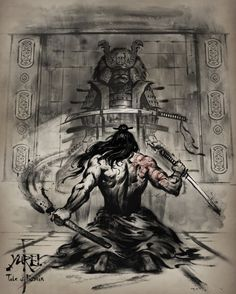 samurai and dragon tattoo Ninja Kunst, Arte Ninja, Ninja Art, Ronin Samurai, Samurai Jack, Samurai Warrior, Fantasy Kunst, Fantasy Art, Samurai Artwork