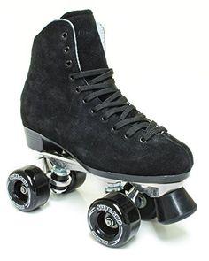 Outdoor Roller Skates - SureGrip 1300 Black suede roller skates >>> Visit the image link more details.
