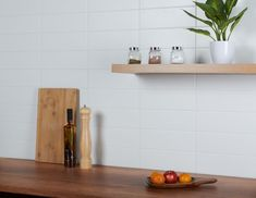 Want to brighten up an interior area this season? These White Matt Linear Tiles are just what the doctor ordered. 300x100mm in size, these brick-shaped tiles are perfect for transforming bathroom and kitchen wall spaces. They have a flat surface, with a subtle matt finish. They belong to our range of stylish Linear Tiles. Kitchen Walls, Brick Tiles, Splashback, Wall And Floor Tiles, White Tiles, Wall Spaces, Floating Shelves, Surface, Range