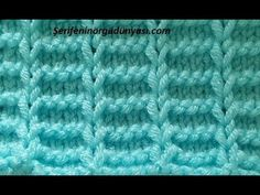 Patterned Lines With Pattern – Typical Miracle Baby Knitting Patterns, Knitting Stiches, Knitting Videos, Knitting Designs, Free Knitting, Stitch Patterns, Crochet Baby, Knit Crochet, Purl Stitch