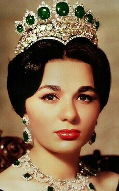 Empress Farah Pahlavi of Iran