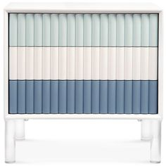 Eden Rock 3 Drawer Tri-color Side Table images ideas from Home Table Ideas Contemporary Side Tables, Modern Side Table, Eden Rock, Blue Side Table, Blue Siding, Blue Home Decor, Night Table, Repurposed Furniture, Colour Schemes