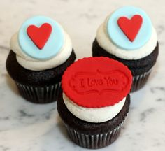 I Love You cupcakes from The Cupcake Shoppe in Raleigh.