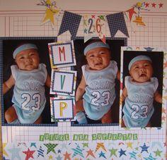 MVP - Scrapbook.com - Great page. #scrapbooking #baby