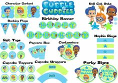 Printable Bubble Guppies Party Package
