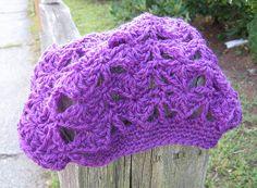 shells & chains slouchy beret crochet pattern