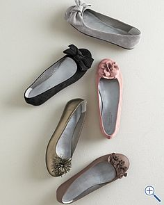 If I would get up my nerve to try ballet flats and stop thinking I'm the only person in the world that will look silly in them.