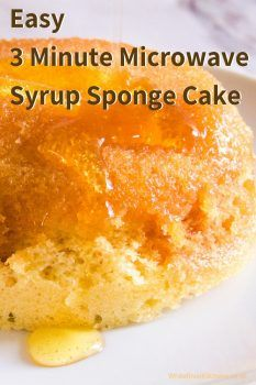 Make a Syrup Sponge - 3 Minute Microwave Sponge Cake - Sponge Cake Recipes, Mug Recipes, Baking Recipes, Sweet Recipes, Dessert Recipes, Recipies, Steamed Sponge Cake Recipe, Sponge Recipe, Hot Desserts
