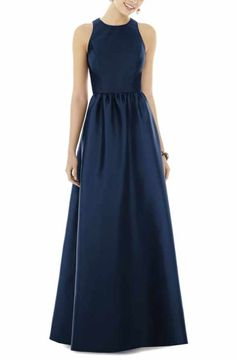 576dee3edf6 Alfred Sung Sateen Gown Winter Bridesmaid Dresses