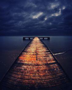 dock at dusk / by Adam Sandurski