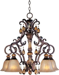 "View the Maxim 22264EM Dresden 5 Light 1 Tier Chandelier - 36"" Chain Included at LightingDirect.com."