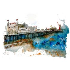 Brighton Palace Pier painting