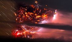 Volcanic Lightning Photograph by Francisco Negroni, Agenci Uno/European Pressphoto Agency In a scene no human could have witnessed, an apocalyptic agglommeration of lightning bolts illuminates an ash cloud above Chile's Puyehue volcano (map) on Sunday.