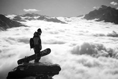 Above the clouds #snowboarding
