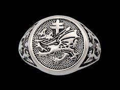 Vlad Dracula's Order of the Dragon Signet Ring - DaVinci Emporium