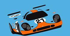 Posters 50x70cm com o famoso Porsche 917K.