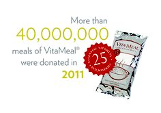 Thanks to the generosity of Nu Skin's distributors, employees and customers, more than 40 million meals were donated to malnourished children in 2011. (www.nuskin.com/...)