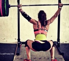 Andrea Ager - Locking out that Overhead Squat and staying strong at the bottom. Power out of the bottom.