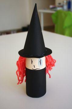 basteln mit klopapierrollen diy ideen deko ideen basteln mit kindern hexe