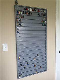 Lego minifigure display shelf