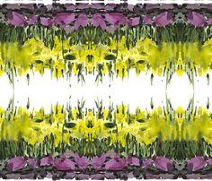 C'EST LA VIV™ Garden Lark Collection_Running Daffodils fabric by cestlaviv on Spoonflower - custom fabric