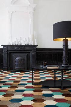 edward van vliet hexagonal parquet series bisazza designboom
