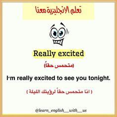 #تعلم_الانكليزية_معنا #تعلم_الانجليزية# #تعليم #learning #Nature #relax #video #water Beautiful Words In English, English Words, Learning English, English Lessons, Excited To See You, Learning Arabic, Learn English