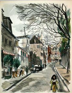 Gaston Barret, 1952  Montmartre