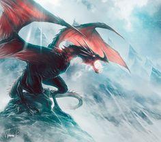 Dragon's Peak, Andrea Guardino on ArtStation at https://www.artstation.com/artwork/y6xG5