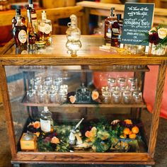 This Whiskey Bar kept our guests warm & cozy all night! << Photo @rebekahjmurray Bar @bellavillashop Calligraphy @meanttobedc >> As seen on @weddingchicks today!