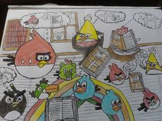 Angry birds but I created the theme for the angry birds