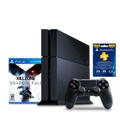 Looking at 500 GB Console with Killzone: Shadowfall & 1 Year of Playstation Plus. Pre Order: Ships by December on SHOP. Playstation 4 Bundle, Fall Games, Love To Shop, Ps4, Console, 1 Year, December, Ships, Products