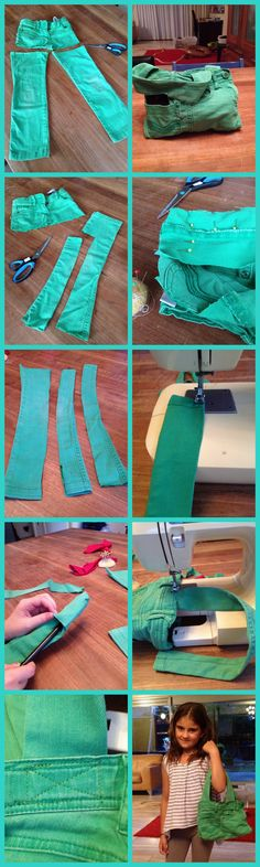 How to make a jeans bag...  Very clear tutorial!  incl. presentation tutorial in English