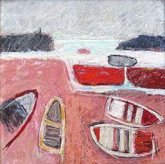 Malcolm Taylor Sea Paintings, Abstract Paintings, Contemporary Paintings, Landscape Paintings, Abstract Art, Seaside Art, Boat Painting, Small Art, Naive Art