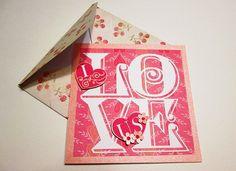 I LOVE US Anniversary, Wedding or Valentine handmade card and envelope