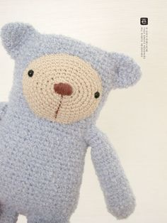 The Little Blue Bear por eveluche en Etsy