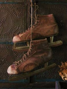 old skates - my mum was a twin - she and her brother wore one skate each when going to school