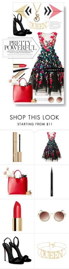 """Me now"" by fash-outfit ❤ liked on Polyvore featuring Stila, Marchesa, MAC Cosmetics, Giuseppe Zanotti and Albert Malky"