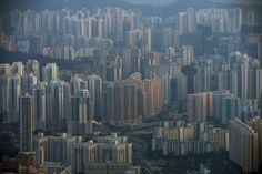 Edificios de apartamentos y oficinas en el distrito de Kowloon de Hong Kong. Alex Ogle (AFP).