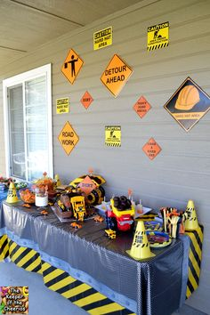 The Keeper of the Cheerios: Construction Birthday Party