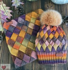 Pebbles Entrelac Scarf by Vick Baby Hats Knitting, Knitted Baby Blankets, Knitted Hats, Knitting Projects, Knitting Patterns, Cable Knit Hat, Knit Beanie, Knit Crochet, Knit Patterns