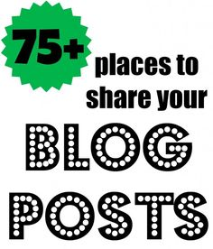 where to share blog posts