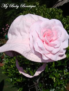 Infant Baby Sun Hat   Sleeping Beauty Baby Pink by MyBabyBowtique, $15.00