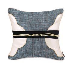 红空间布梵现代中式样板房酒店沙发抱枕腰封绳结拼接腰枕装饰枕