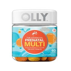 $14 You'll want to start religiously taking your prenatals, and this is one of our favorite go-to brands. These prenatal vitamins taste like candies! The multi doesn't contain biotin, which can speed up hair growth and cause breakouts in some pregnant women.