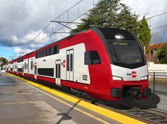 Stadler double-deck electric multiple-units for Caltrain rail corridor between…