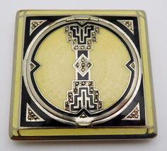 Details about Vintage Sterling Silver / Cloisonne Enamel Ladies Compact Case